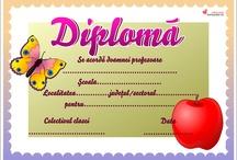 Modele de diplome școlare - limba română și maghiară