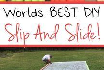 Tarp slip and slide