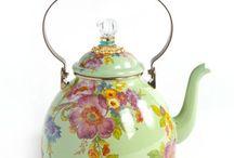 Mint & Green Teapot & Teacup
