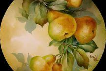 porcellane: fiori, frutta..