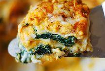Food / Spinach squash lasagna
