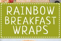 rainbow breakfast wrap