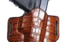 Belt holster-leather, hand molded