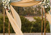 Ceremony Arches and areas / Wedding Ceremony ideas for arches and seating / by Susi Liddington Creative