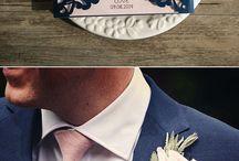 Свадьбы в темно-синих тонах