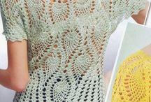 Вязаная крючком блузка