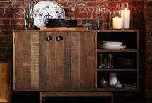 Rough wood furniture / by Evita G