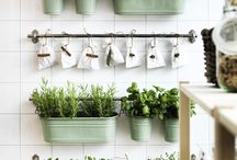 How to make: a herb wall / There's nothing like the taste and aroma of fresh herbs. And they're one of the easiest things to grow in your home, however much space you have. Take a look at our ideas below, and feel free to re-pin your favourites. / by IKEA UK