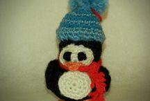 amigurumi penguin christmas tree ornament