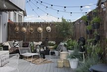 Patio project / Ideas for outdoor patio including roofing, seating, section dividing, plant/decor and lighting. The area is meant to function as a an outdoor living/dining room during spring/summer/autums but with no insulation or similar. Open but yet.