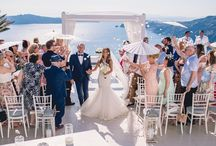 Diane and Gary's breathtaking Santorini wedding / Gorgeous photographs taken from Diane and Gary's Sunset View Terrace wedding in Santorini on the 27th of May 2016.  photographed by Phosart Photography Cinematography  If you haven't already, read all about their special day and see more beautiful photographs here - http://www.thebridalconsultants.com/real-santorini-wedding-diane-gary-2016/