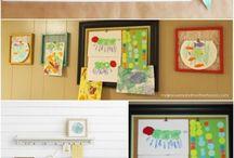 Display of children art