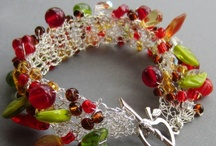 Knit & crochet jewellery / Jewellery made by knitting and crocheting wire and yarn.