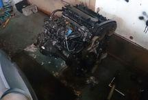 Wymiana silnika Alfa Romeo 147 / Demontaż uszkodzonego i montaż sprawnego silnika Alfa Romeo 1,6 105 km do Alfa Romeo 147