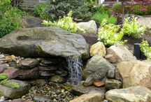 Waterfall / In garden