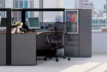 Herman Miller Ethospace / Ethospace was Herman Millers' early segmented office cubicle system. One of the earliest frame and tile cubicle systems it has evolved to stand the test of time...since the late 1970's.