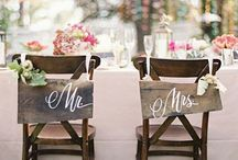 Wedding sign chairs