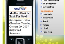 """Mobile Portal / """"m.oneindia.in is the mobile version of oneindia.in. Now your favorite content is designed for your mobile and PDA """" / by Oneindia"""