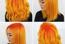 Рыже-оранжевые волосы