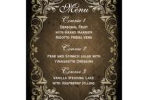 Wedding menu Cards / custom personalized wedding menu cards, wedding menu plans, meal menu