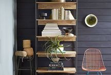 Home Office Ideas / Possible furnishings to review for earthy, simple home office