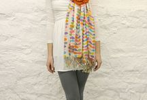 Crochet shawl bloem