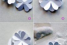 paper flower wreaths - flowers / by Debidee