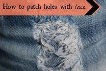 diy: patched jeans / My favourite pair of pre-distressed jeans have taken a turn for the worse, so here's some DIY inspiration to patch the unwanted rips.