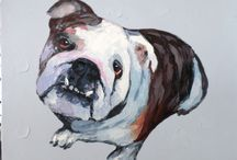 Dogs / If its dogs you love we have a great range of hand painted artworks available or print your own!
