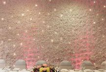 Flower Wall Backdrop Hire / The Flower Wall was inspired by celebrity weddings such as Kim Kardashian to Kanye West.  The images of the impressive wedding decor went viral around the world, with everyone talking about it.  Our flower wall backdrop is made from fabric flowers and is hand crafted and applied to give a natural effect flower wall.