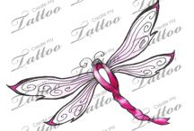 Cancer Ribbons  tattoo