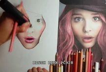 pencils coloring