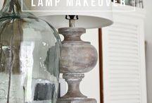 DIY Lamp & Shade Makeovers