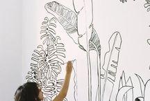 Monstera leaf - tropical theme