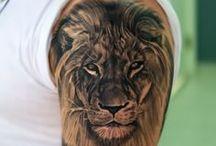 Leone tatuato