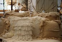 linens...Ruffles and lace