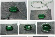 Lavori con perle verdi
