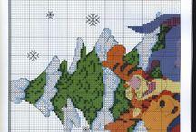 Point de croix Noël / Hiver