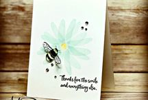 Dragonflies & Bees / Stampin' Up! Dragonfly Dreams Stamp Set & Detailed Dragonfly Thinlits Dies