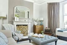 Duck egg blue and taupe decor / Relaxed, soothing french inspired decor