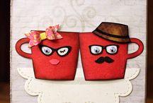 Karten Tassen, Kaffee und Tee
