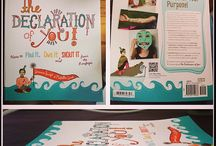 The Declaration of You / The Declaration of You is a book written by Jessica Swift & Michelle Ward that encourages you to discover, embrace & declare what makes you truly unique. Published by North Light Craft Books: http://thedeclarationofyou.com/