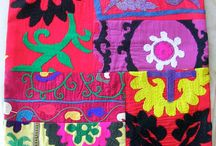 Patchwork plus Color  / We enjoy repurposing remnants of vintage carpets and kilims...some redyed for an extra color punch, some faded versions of their original glory, all blending to create new from old...interested in one of your own? http://on.fb.me/kfFWub / by Catherine Bayar