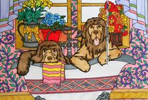 ColorIt Dogs Submissions / We love dogs and we know many people do too that's why we created the Dogs, Everyone's Best Friend coloring book. Enjoy these submissions from the ColorIt community and be inspired by their colorful creations.
