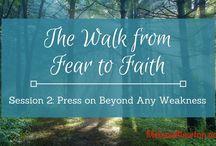 Video Teaching / the walk from fear to faith, Old Testament women, fear to faith, Sarah, Miriam, Rahab, trusting God's goodness, widows, Shunammite woman, prophet's widow, Zarephath widow, God's provision, God's power, God's goodness
