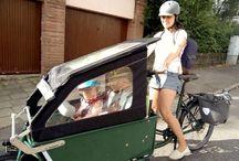 Lastenfahrräder für Familien / Fahrradfahren mit Kindern: bis zu 4 Kinder finden in unserem Lastenrad Rapid Platz, auch kann eine Halterung für die eine Babyschale montiert werden