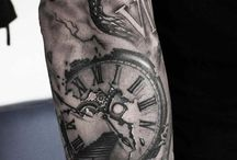 Clock eye tatoo
