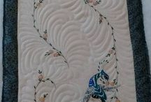 machine quilted vintage linens