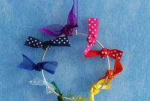 Ribbon jewellery and accessories / Earrings, necklaces, brooches, jewellery and accessories all hand made with ribbon