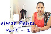 how to sew salwar pants